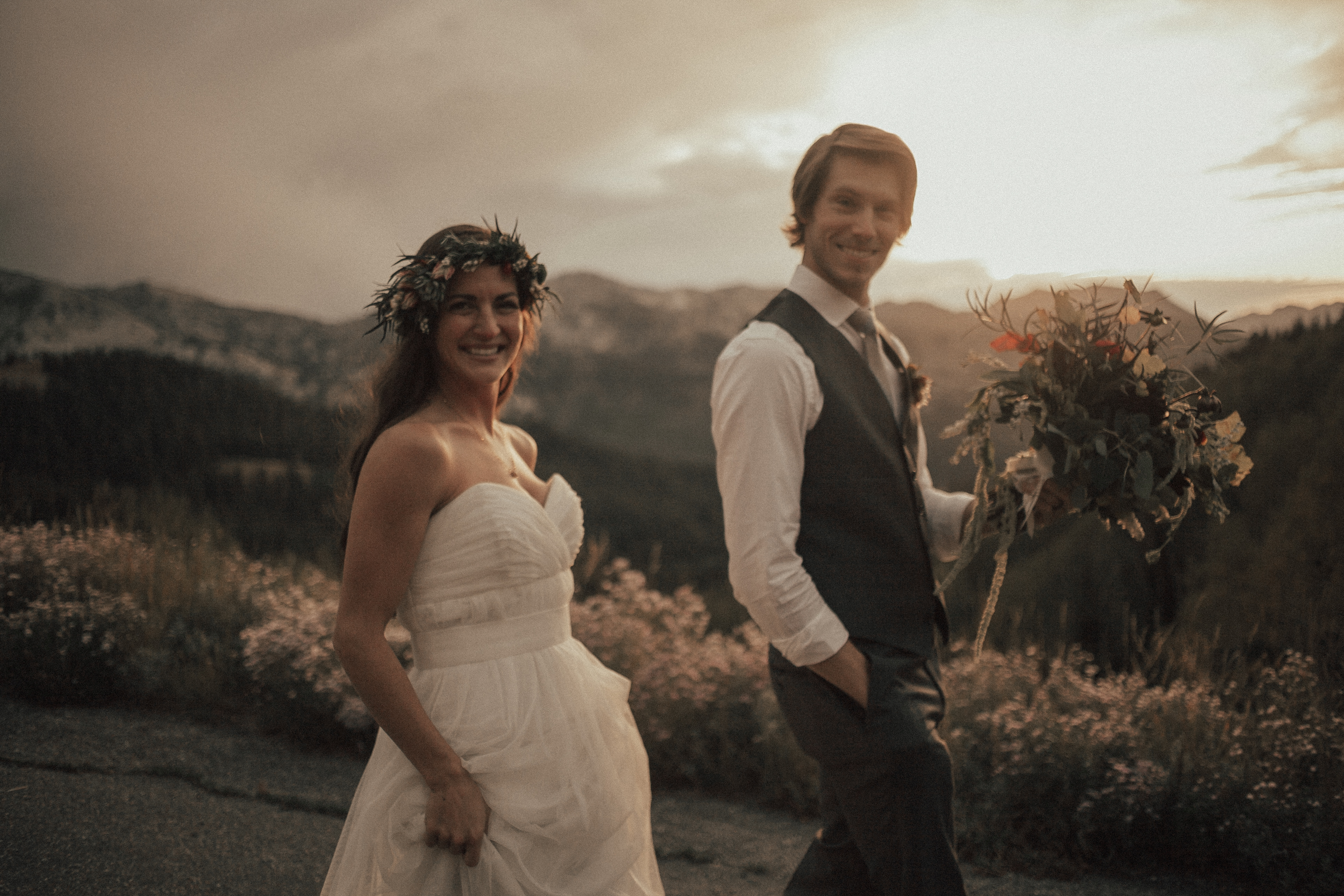 Solitude Mountain Resort Wedding Utah Salt Lake City Green Wedding Shoes Bohemian Bride Moss Flower Shop Tyler Texas Sunset Adventure Elopement Green Wedding Shoes